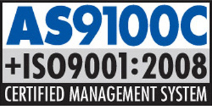 AS9100C+ISO9001:2008 Certified Management System